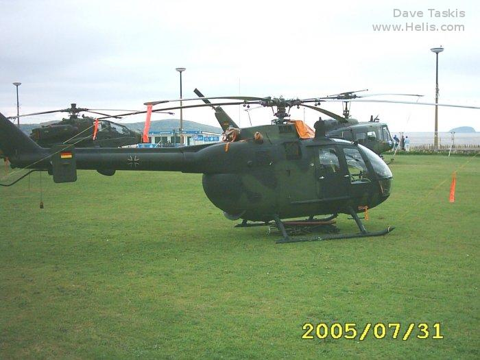 Helicopter MBB Bo105P PAH-1 Serial 6026 Register 86+26 used by Heeresflieger (German Army Aviation). Aircraft history and location