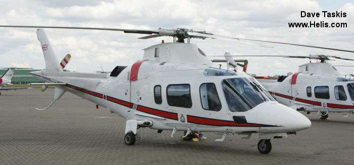 Helicopter AgustaWestland AW109E Power Serial 11663 Register ZR321 G-CDVB used by Royal Air Force AgustaWestland UK. Built 2006. Aircraft history and location