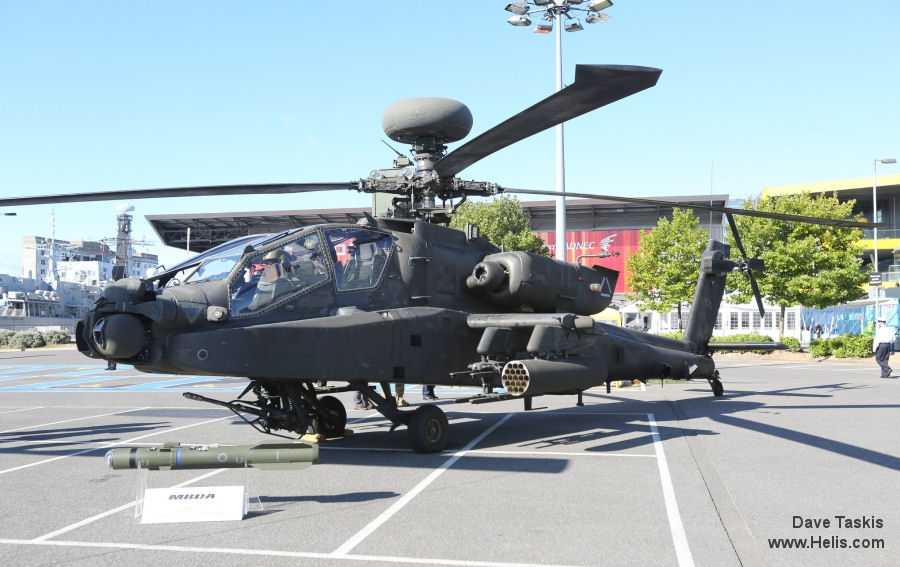 Helicopter Boeing AH-64D Apache Serial PVD431 Register 04-5431 used by US Army Aviation. Aircraft history