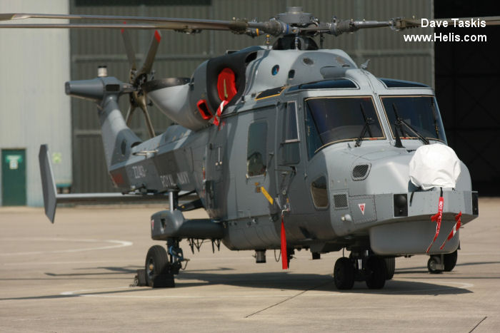 Helicopter AgustaWestland AW159 Wildcat HMA2 Serial 483 Register ZZ413 used by Fleet Air Arm (Royal Navy). Built 2013. Aircraft history and location