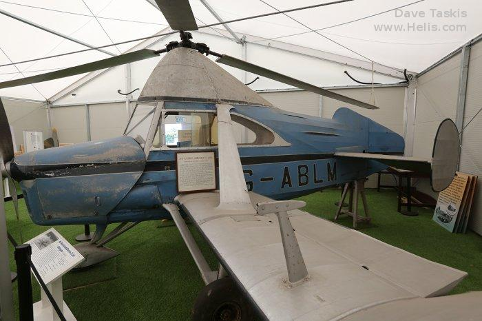 Helicopter Cierva C.24 Serial 710 Register G-ABLM. Built 1931. Aircraft history and location