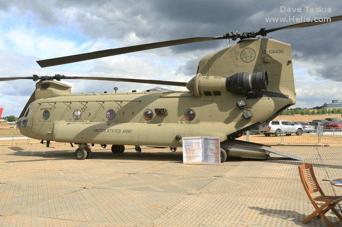 Helicopter Boeing CH-47F Chinook Serial M.8436 Register 13-08436 used by US Army Aviation. Aircraft history