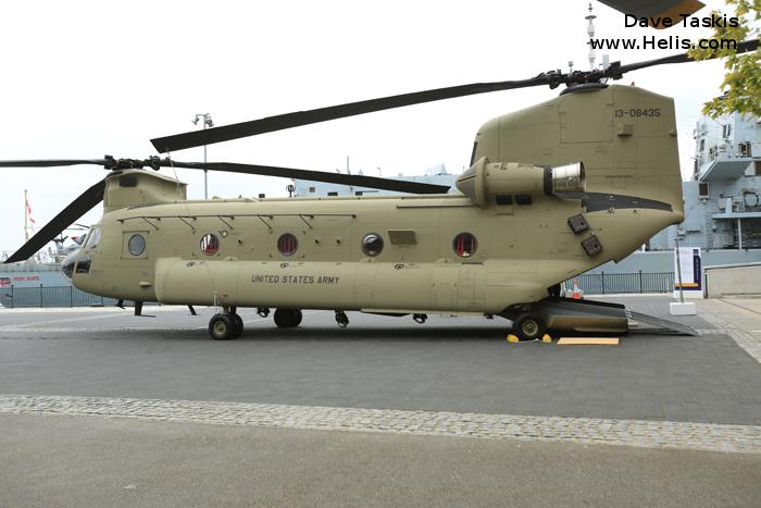 Helicopter Boeing CH-47F Chinook Serial M.8435 Register 13-08435 used by US Army Aviation. Aircraft history and location