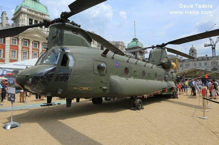 Helicopter Boeing CH-47D Chinook Serial M.7024 Register ZA680 used by Royal Air Force RAF. Aircraft history and location