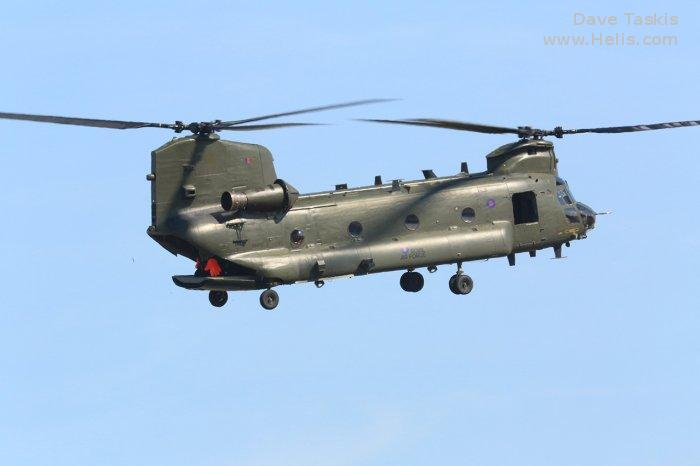 Helicopter Boeing CH-47D Chinook Serial M.7031 Register ZA683 used by Royal Air Force RAF. Aircraft history and location