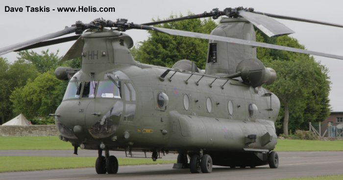 Helicopter Boeing CH-47D Chinook Serial M.4456 Register N2025L ZH893 used by Boeing Helicopters Royal Air Force. Built 1998. Aircraft history