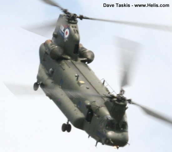 Helicopter Boeing CH-47D Chinook Serial M.4458 Register ZH895 N2034K used by Royal Air Force RAF ,Boeing Helicopters. Aircraft history and location