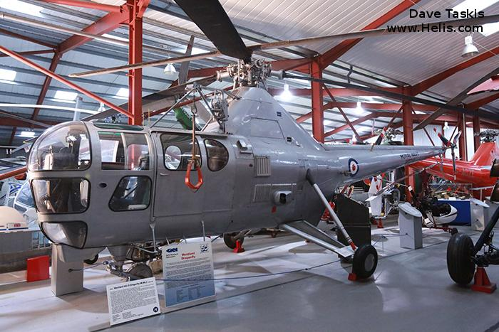 Helicopter Westland Dragonfly HR.3 Serial wa/h/050 Register WG719 G-BRMA used by Fleet Air Arm RN (Royal Navy). Built 1952. Aircraft history and location