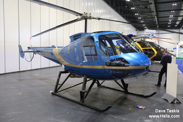 Helicopter Enstrom 480B Serial 5084 Register G-ENHP used by Eastern Atlantic Helicopters. Built 2005. Aircraft history