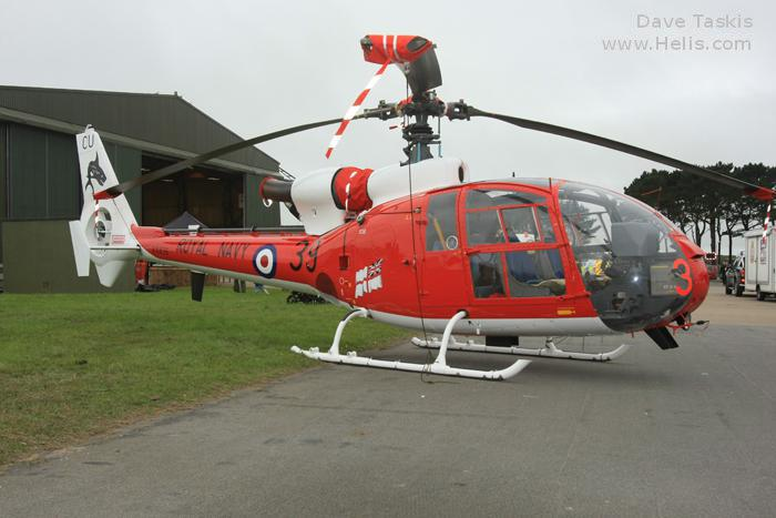 Helicopter Aerospatiale SA341C Gazelle HT.2 Serial 1402 Register G-CBSE G-ZZLE XX436 used by London Helicopter Centres Fleet Air Arm (Royal Navy). Built 1976. Aircraft history