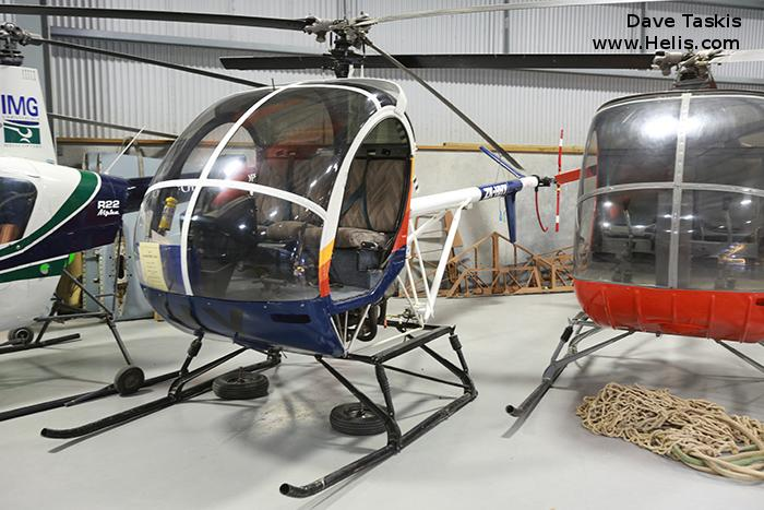 Helicopter Hughes 369HS Serial 14-0556S Register ZK-HHY C-FXEA N9169F. Built 1974. Aircraft history and location