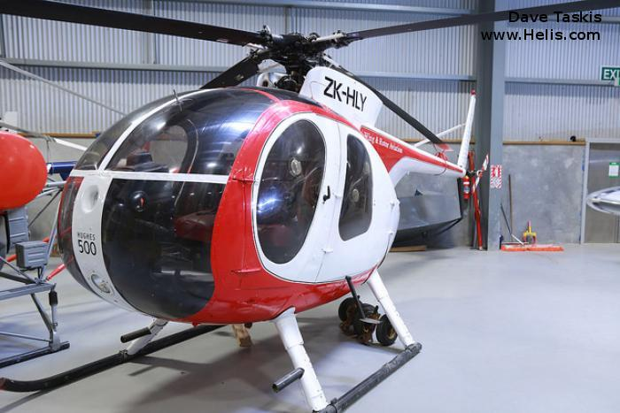 Helicopter Hughes 369HS Serial 33-0459S Register ZK-HLY N9134F. Built 1973. Aircraft history and location