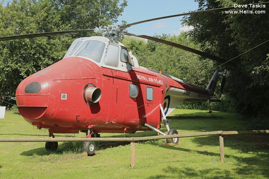 Helicopter Westland Whirlwind HAR.10 Serial wa417 Register XR485 used by Royal Air Force RAF. Built 1963. Aircraft history and location