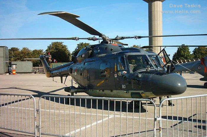 Helicopter Westland Lynx mk27 Serial 206 Register 280 used by Marine Luchtvaartdienst (Royal Netherlands Navy). Aircraft history