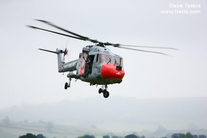 Helicopter Westland Lynx  HAS2 Serial 016 Register XZ235 used by Fleet Air Arm RN (Royal Navy). Built 1977. Aircraft history and location