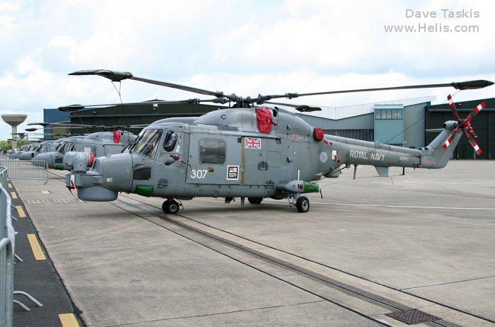 Helicopter Westland Lynx  HAS2 Serial 121 Register XZ692 used by Fleet Air Arm (Royal Navy). Built 1979. Aircraft history