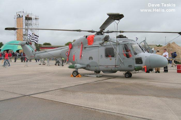 Helicopter Westland Lynx HAS4 (FN) Serial 276 Register 807 used by Aéronautique Navale (French Navy). Aircraft history and location