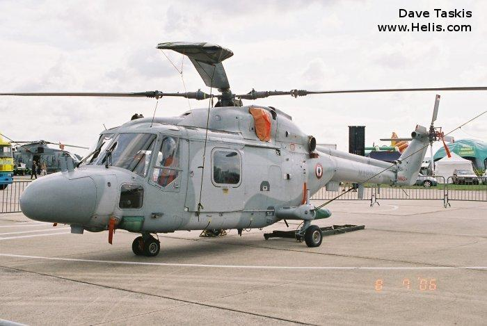 Helicopter Westland Lynx HAS4 (FN) Serial 288 Register 811 used by Aéronautique Navale (French Navy). Aircraft history and location