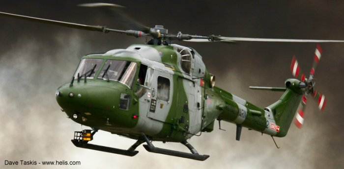 Helicopter Westland Lynx AH1 Serial 306 Register ZD282 used by Royal Marines RM. Built 1983. Aircraft history and location