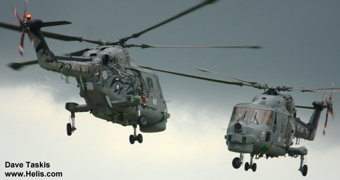 Helicopter Westland Lynx  HAS2 Serial 177 Register XZ722 used by Fleet Air Arm (Royal Navy). Built 1980. Aircraft history