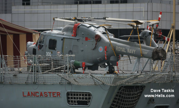 Helicopter Westland Lynx HAS3 Serial 267 Register ZD257 used by Fleet Air Arm RN (Royal Navy). Built 1982. Aircraft history and location