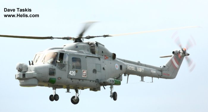 Helicopter Westland Lynx HAS3 Serial 305 Register ZD266 used by Fleet Air Arm (Royal Navy). Aircraft history