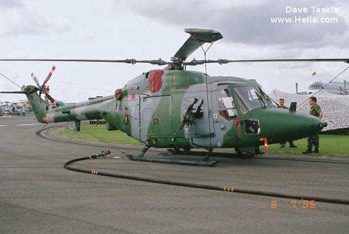 Helicopter Westland Lynx AH1 Serial 058 Register XZ182 used by Royal Marines RM ,Army Air Corps AAC (British Army). Built 1978. Aircraft history and location