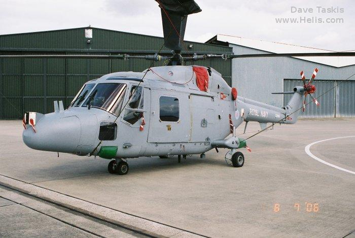 Helicopter Westland Lynx  HAS2 Serial 135 Register XZ696 used by Fleet Air Arm (Royal Navy) Westland. Built 1979. Aircraft history and location