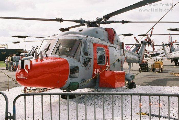 Helicopter Westland Lynx  HAS2 Serial 070 Register XZ246 used by Aeroventure Museum ,Fleet Air Arm RN (Royal Navy). Built 1978. Aircraft history and location