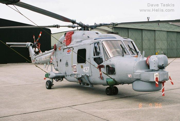 Helicopter Westland Lynx HAS3 Serial 295 Register ZD261 used by Hayward and Green Defence Ltd ,Fleet Air Arm RN (Royal Navy). Built 1983. Aircraft history and location