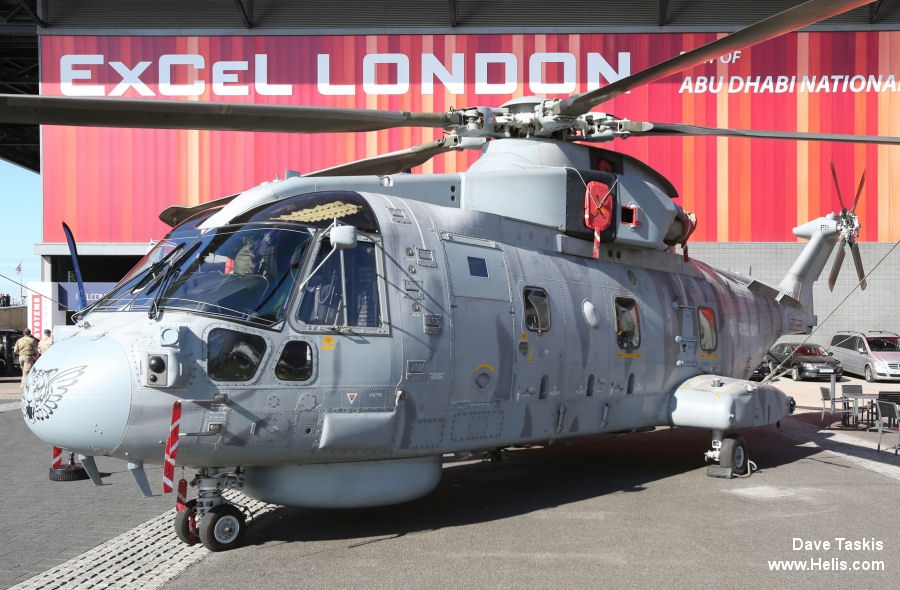 Helicopter AgustaWestland Merlin HM.1 Serial 50164 Register ZH860 used by Fleet Air Arm (Royal Navy). Built 2002. Aircraft history