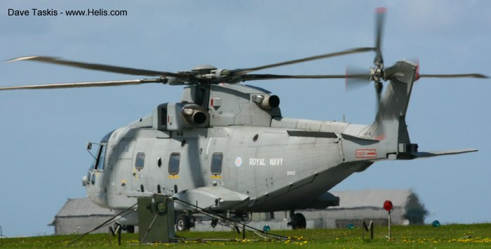Helicopter AgustaWestland Merlin HM.1 Serial 50074 Register ZH837 used by Fleet Air Arm (Royal Navy). Aircraft history and location