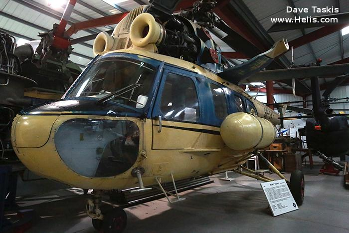 Helicopter Mil Mi-2 Hoplite Serial 529538125 Register SP-SAY 95 38 used by PZL Swidnik. Built 1985. Aircraft history and location