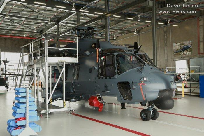 Helicopter NH Industries NH90 TTH Serial 1229 Register NZ3306 F-ZWDV used by Royal New Zealand Air Force RNZAF ,Eurocopter France. Built 2013. Aircraft history and location