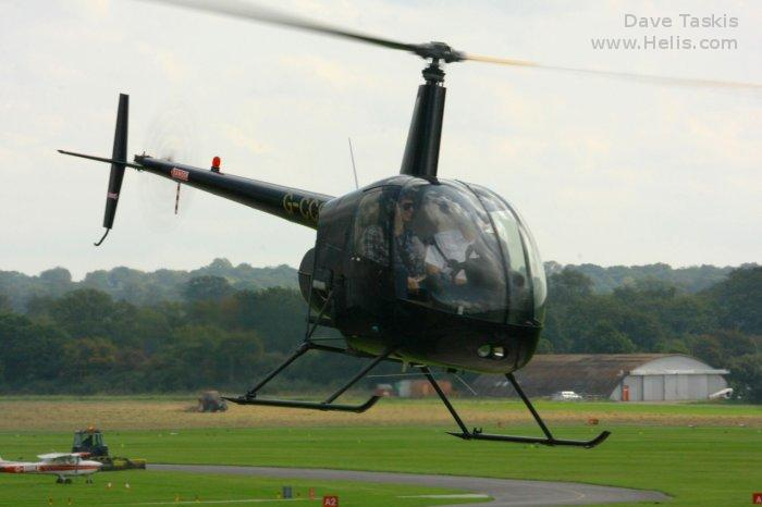 Helicopter Robinson R22 Beta Serial 3453 Register G-NDIA G-CCGE. Built 2003. Aircraft history and location