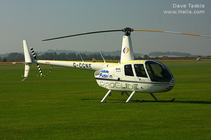 Helicopter Robinson R44 Raven II Serial 12952 Register G-CGNE used by Heli Air Ltd. Built 2010. Aircraft history and location