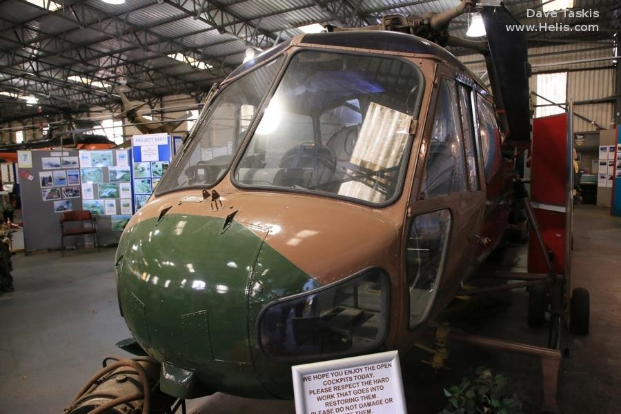 Helicopter Westland Scout AH.1 Serial S2/8443 Register XP190 used by Army Air Corps AAC (British Army). Aircraft history and location