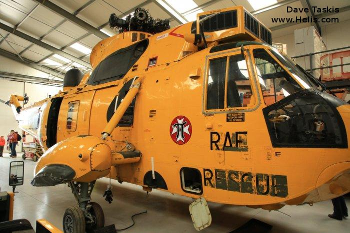 Helicopter Westland Sea King HAR.3 Serial wa 863 Register XZ597 used by Royal Air Force. Built 1978. Aircraft history and location