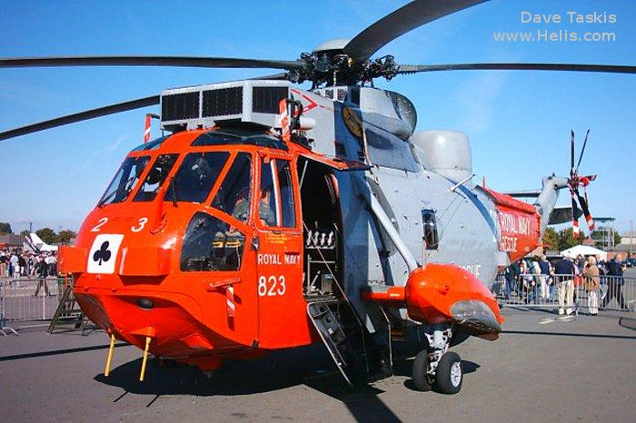 Helicopter Westland Sea King HAS.1 Serial wa 670 Register XV699 used by Fleet Air Arm (Royal Navy) Vector Aerospace. Built 1971. Aircraft history and location
