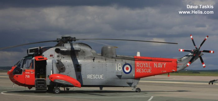 Helicopter Westland Sea King HAS.1 Serial wa 636 Register XV648 used by Fleet Air Arm (Royal Navy). Built 1969. Aircraft history