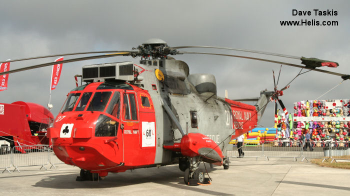 Helicopter Westland Sea King HAS.1 Serial wa 661 Register XV673 used by Fleet Air Arm (Royal Navy). Built 1970. Aircraft history