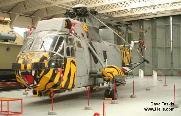 Helicopter Westland Sea King HAS.1 Serial wa 683 Register XV712 used by Fleet Air Arm RN (Royal Navy). Built 1972. Aircraft history and location