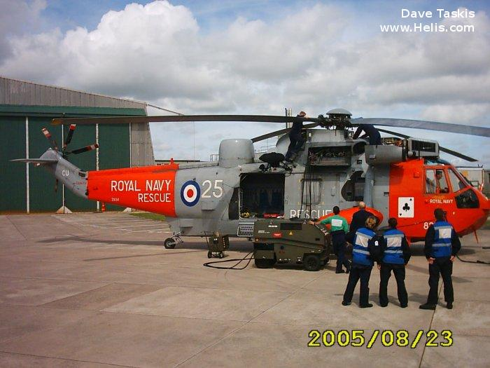 Helicopter Westland Sea King HAS.5 Serial wa 895 Register ZA134 used by Fleet Air Arm (Royal Navy). Built 1981. Aircraft history