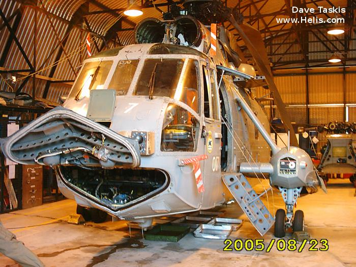 Helicopter Westland Sea King HAS.1 Serial wa 677 Register XV706 used by Fleet Air Arm (Royal Navy). Built 1971. Aircraft history and location