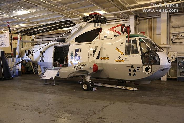 Helicopter Sikorsky HSS-2 Sea King Serial 61-073 Register 148999 used by US Navy (United States Naval Aviation). Aircraft history