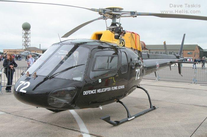 Helicopter Eurocopter AS350BB Ecureuil Serial 3005 Register ZJ272 used by Royal Air Force. Built 1997. Aircraft history and location