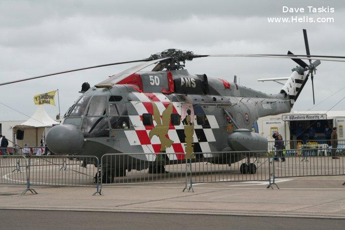 Helicopter Sud Aviation SA321G Super Frelon Serial 162 Register 162 used by Aéronautique Navale (French Navy). Aircraft history