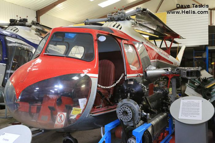 Helicopter Bristol Sycamore 3 Serial 12892 Register G-ALSX. Built 1951. Aircraft history and location