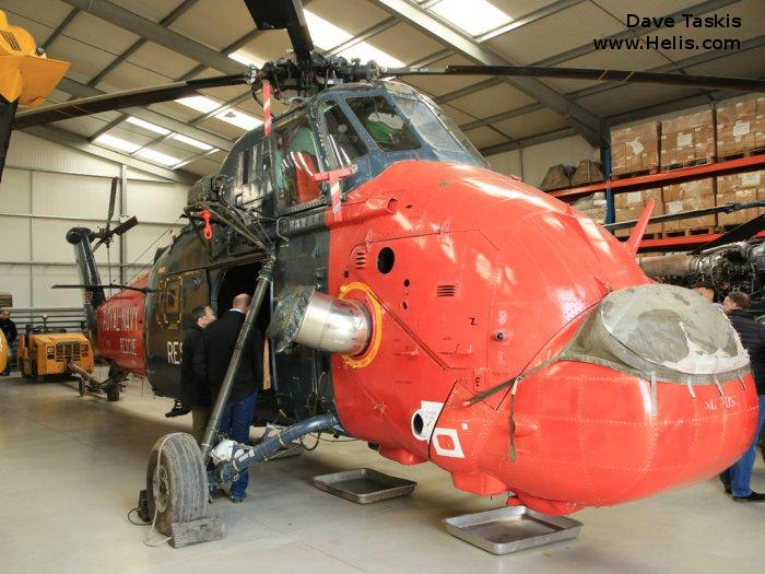 Helicopter Westland Wessex HU.5 Serial wa483 Register G-WSEX XT761 used by Fleet Air Arm RN (Royal Navy) ,Royal Marines RM. Built 1966. Aircraft history and location
