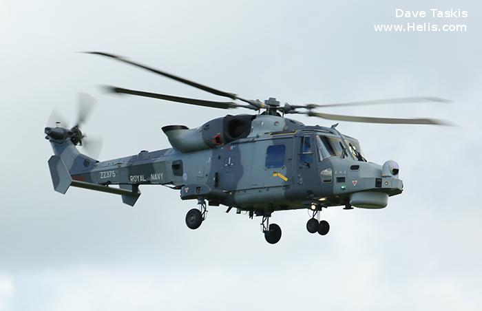 Helicopter AgustaWestland AW159 Wildcat HMA2 Serial 494 Register ZZ375 used by Fleet Air Arm (Royal Navy). Aircraft history